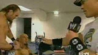 John Cena asking about Kurt Angle