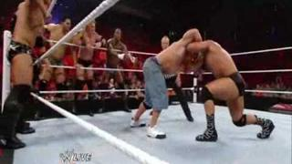 John Cena vs. The Nexus (6 on 1 Handicap Match) (RAW 07 12 2010) Part 1