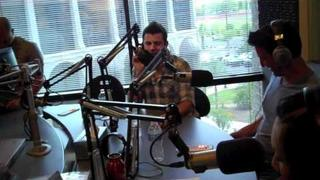 Jordan Knight and Jonathan Knight in Phoenix - NEW KIDS ON THE BLOCK at HOT 97.5 FM studios