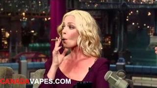 Katherine Heigl & David Letterman vape electronic cigarettes