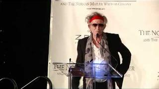 Keith accepts the Norman Mailer Prize 2011