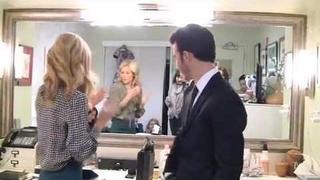 Kevin Jonas y Danielle Deleasa en LIVE! with Kelly - Kelly's Fashion Finder