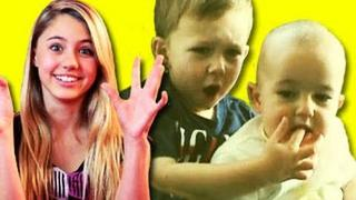 KIDS REACT TO VIRAL VIDEOS #5 (Charlie Bit My Finger, Golden Voice Homeless Man, Double Dream Hands)