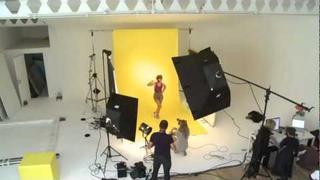 Kimberley Walsh Behind-The-Scenes Puma Shoot