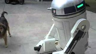Larger than life motorized R2D2