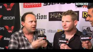Lars Ulrich and Corey Taylor interviewed together backstage (EXCLUSIVE)