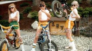 Layne Staley lifting a bike