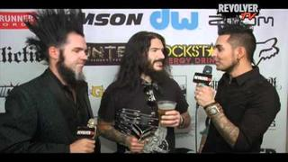 Machine Head's Robb Flynn and Static-X's Wayne Static Catch Up at Revolver Golden Gods Awards