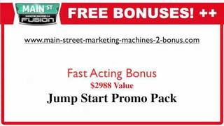 Main Street Marketing Machines 2 Bonus FREE IPAD2 - Fusion