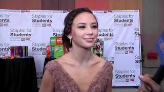 Malese Jow Dishes on 'The Vampire Diaries' At Staples for Students DoSomething.org Party