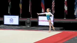 Maria Karpova (RUS) Floor Exercise, 2010 Gymnix Junior Cup