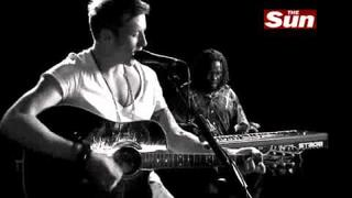 McFly Danny Jones Bittersweet Symphony Acoustic(Cover of The verve) The Sun Biz session 09-16-10