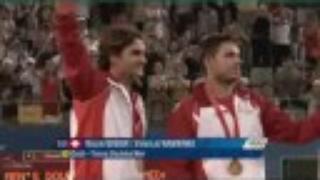 Men's Tennis Doubles Medal Ceremony at 2008 Beijing Olympics