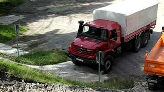 Mercedes Zetros doing some 'extreme' hill climbing!