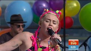 Miley Cyrus - We Can't Stop (Live on Sunrise)