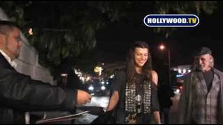 Milla Jovovich Goes To Chateau Marmont On Friday Night