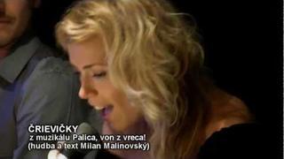 """MIRKA PARTLOVÁ - """"ČRIEVIČKY"""" (hudba a text MILAN MALINOVSKY)"""