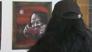 Mr. Lordi's first art exhibition (2009)