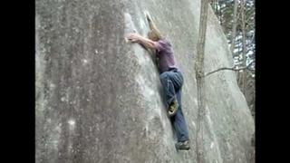 Nalle Hukkataival climbing Banshousha, V13 slab