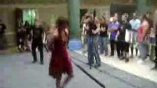 Natalia Tena (Harry Potters Tonks) kicking ass in foam fight