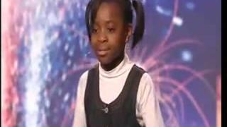 Natalie Okri -10 Year Old Singer - Britains Got Talent 2009 - Ep 6 Sings Alica Keys NO ONE
