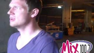 Nick Carter Tour Bus and Backstage