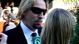 Nickelback's Chad Kroeger doing press@Canada's Walk of Fame