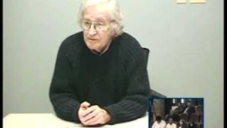 Noam Chomsky video conference interview w/ University of Bahrain students 1 of 3