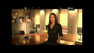 Paget Brewster Speaking French [HD]