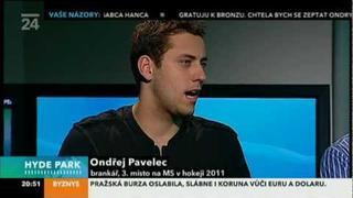 Pavelec a Voráček - v pořadu Hyde Park 2011 :-))