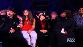 Prince, Paris and Blanket Jackson at XFactor ( Jackie Jackson present the Jackson Family )