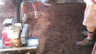 Radiant Heat Floor Part 1: Homemade Soil Cement Subfloor for Earthbag/Superadobe House