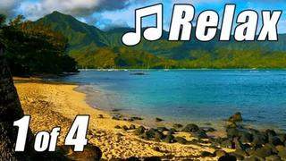 RELAXING MUSIC #1 HD KAUAI BEACHES Slow Songs Most Soothing Ocean Nature Sounds for sleep studying