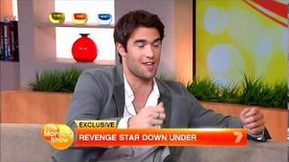 Revenge's Josh Bowman on Morning Show in Sydney 30April 2012
