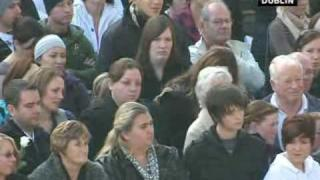 Ronan Keating pays tribute at Stephen Gately's funeral