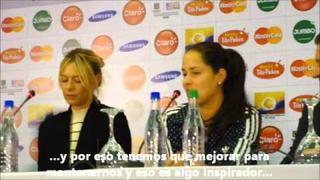 Rueda de prensa de Ana Ivanovic y María Sharapova en Bogotá, C