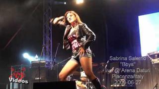 Sabrina Salerno live @ Piacenza/Italy 2009-06-27 - ''Boys''