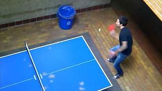 Seb and Pierre Playing Ping-Pong at SAIT