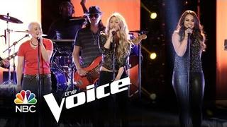 "Shakira, Tess Boyer and Kristen Merlin: ""The One Thing"" (The Voice Highlight)"