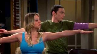 Sheldon And Penny Doing Yoga