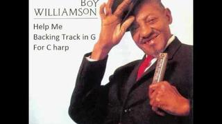 Sonny Boy Williamson - Help Me Backing track in G for C harmonica