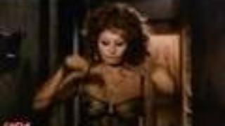 Sophia Loren In BLack Widow Spider-Lady Lingerie