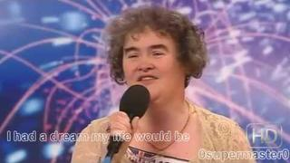 Susan Boyle (HD + Subtitles) singing I dreamed a dream from Les Miserables. Britains Got Talent.