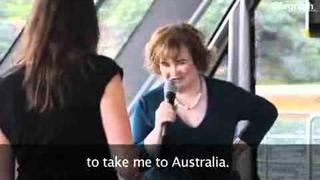 SUSAN BOYLE - Susan Boyle cruises Sydney Harbour