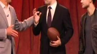 Taylor Lautner Plays Football On Jimmy Fallon 2/2/2012