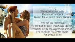 Thank You for the Music by Amanda Seyfried [LYRICS HQ]
