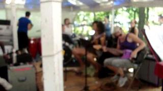 "The Butchies & JD Samson rehearsing ""Cherry Bomb"""