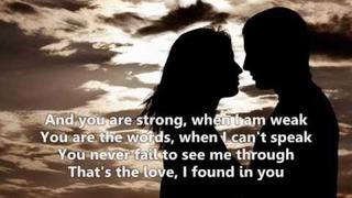 The Love I Found In You - Jim Brickman lyrics