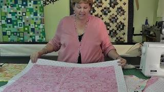 The Self Binding Baby Quilt (Receiving Blanket)