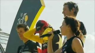 Tina Arena sings Australian National Anthem at Tour de France 2011